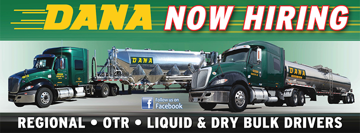 Regional Dry Bulk Company Truck Drivers Needed! - Reading, PA - Dana Companies