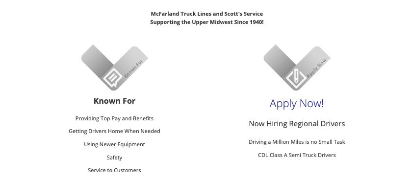 Assistant Recruiter - Minnesota - McFarland Truck Lines, Inc.