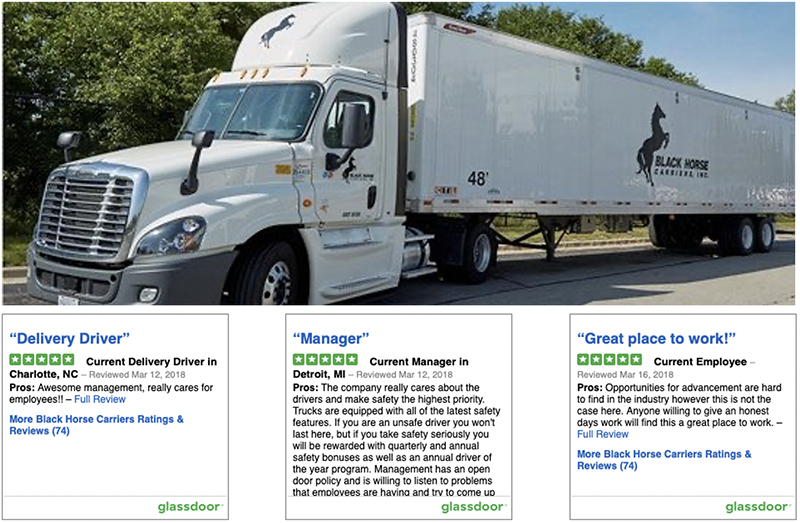 Class A CDL Truck Drivers - Streamwood, IL - Black Horse Carriers