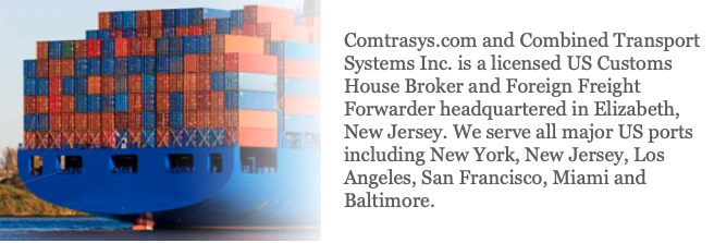 Customs House Broker Entry Writer - New Brunswick, NJ - Combined Transport Systems, Inc.