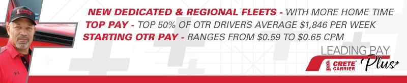 CDL A Drivers - Top 50% of OTR drivers avg. $96,034 per year - North Dakota - Crete Carrier Corporation