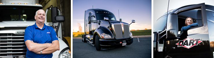 Truck Driving Jobs - OTR Driver - Up to 55 CPM Starting Pay & 2 Pay Raises in your first year! - Pontiac, MI - The Dart Network