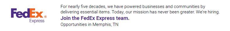 Part Time Handler/Warehouse (Nights) - Memphis, TN - FedEx Express