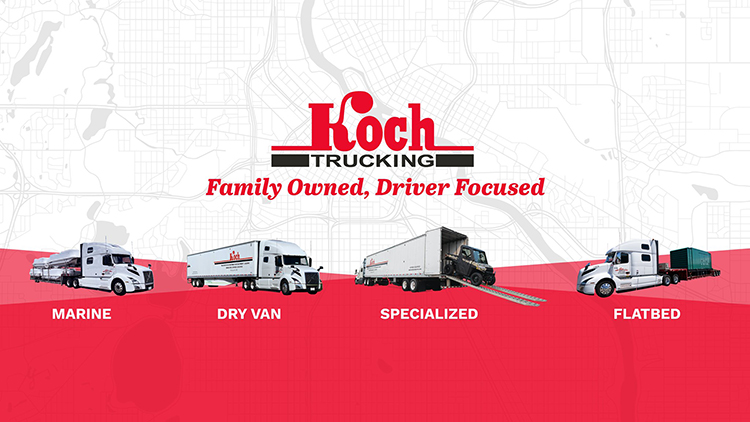 CDL A Dedicated Drivers  To .63 CPM Home Weekly - Flower Mound, TX - Koch Trucking