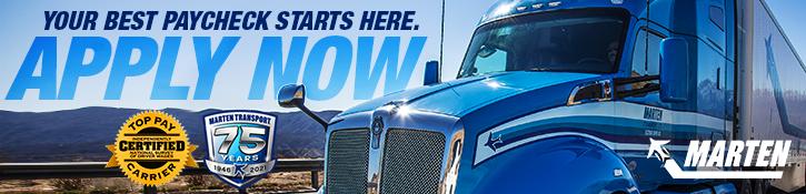 CDL-A Truck Driver Jobs - Bimodal Regional - $1,225+/wk Guaranteed - $1,000 Hiring Bonus - Wilmette, IL - Marten Transport