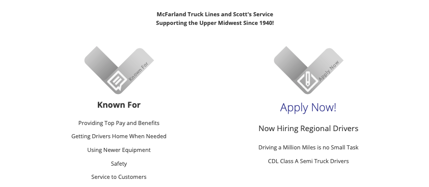 Class A CDL Drivers - Regional - DRIVER FRIENDLY! - Anderson, IN - McFarland Truck Lines, Inc.