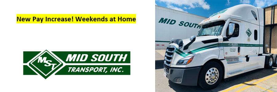 CDL A Drivers - Weekends Home  - Rector, AR - Mid South Transport, Inc