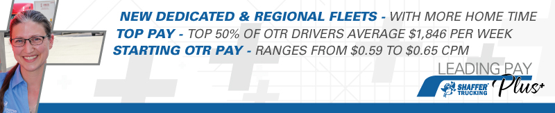 OTR drivers with CDL A and 1 year or more experience starting pay $.59 to $.65 cpm - Michigan - Shaffer Trucking